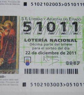 decimo de loteria de navidad