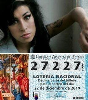loteria de navidad, Amy Winehouse